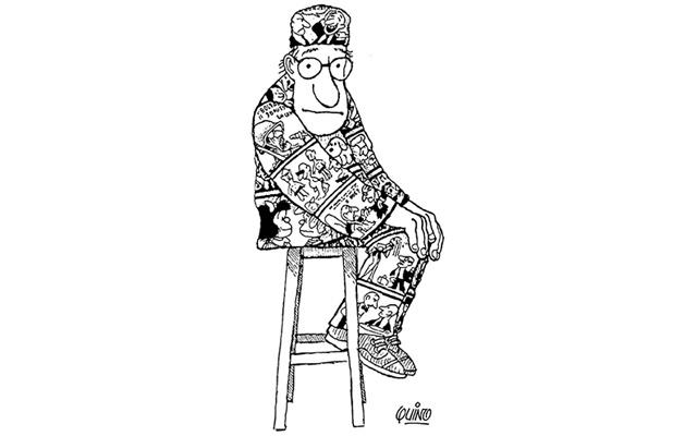 Autorretrato de Quino, el creador de Mafalda