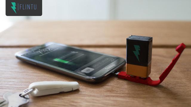 Plan V: el llavero que carga tu celular con una batería de 9v - Código Espagueti
