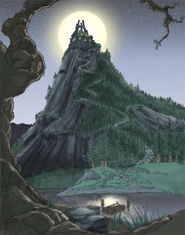 Arte conceptual de Hogwarts por Nintendo