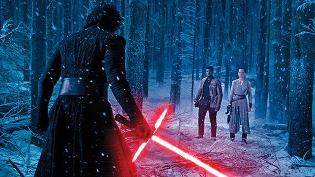 Kylo Ren contra Finn y Rey