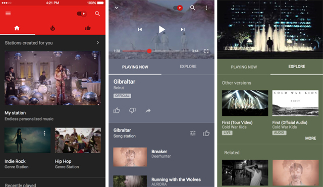 YouTube_Music_Screens