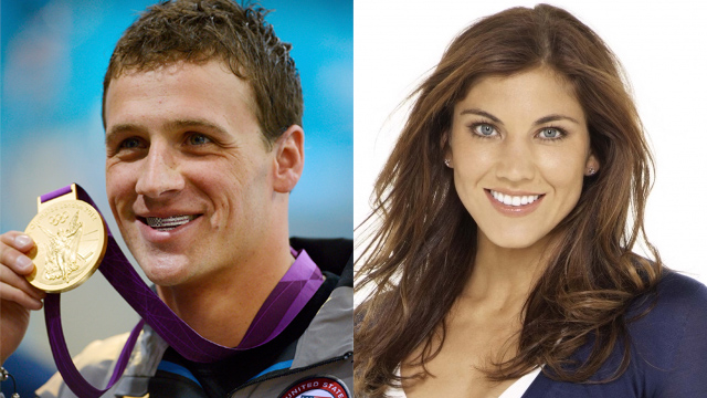 Ryan Lochte y Hope Solo
