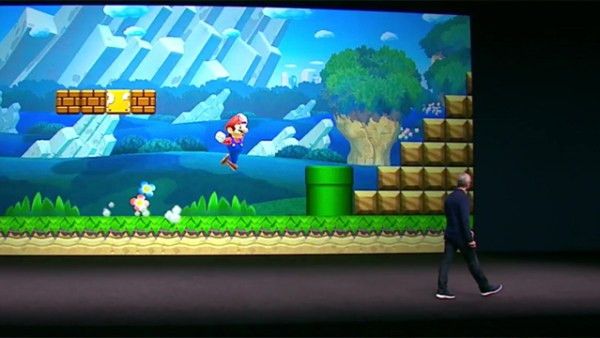 Tim Cook al presentar Super Mario Run