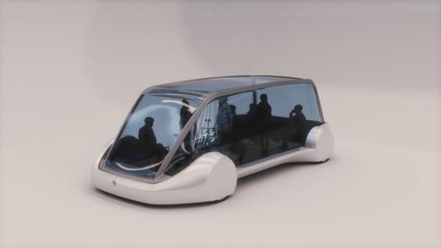 Así luce el transporte público para los túneles de la compañía de Elon Musk