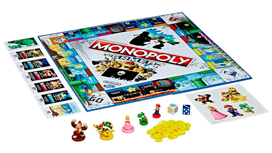 Tablero del nuevo Monopoly Gamer de Super Mario