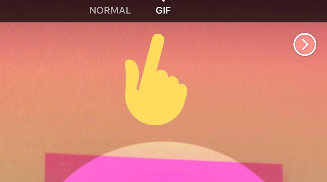 La última actualización de Facebook te deja hacer GIFs desde la cámara.