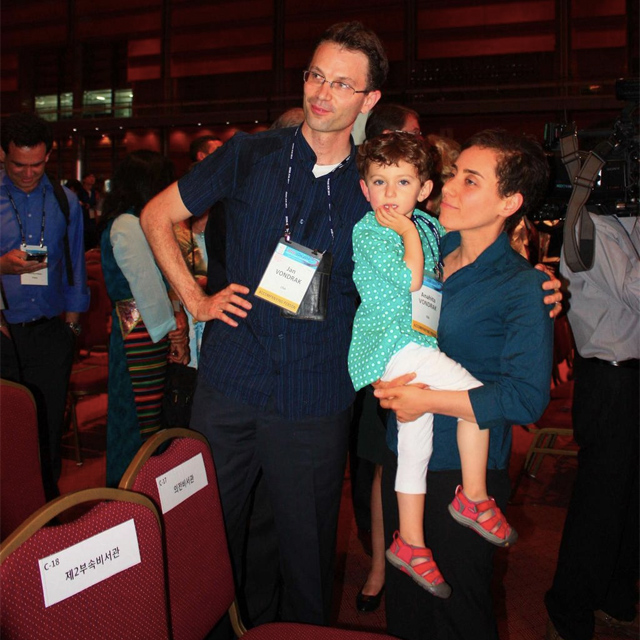 La familia de Maryam Mirzakhani