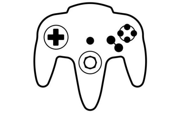 Icono del control del Nintendo 64 registrado por Nintendo