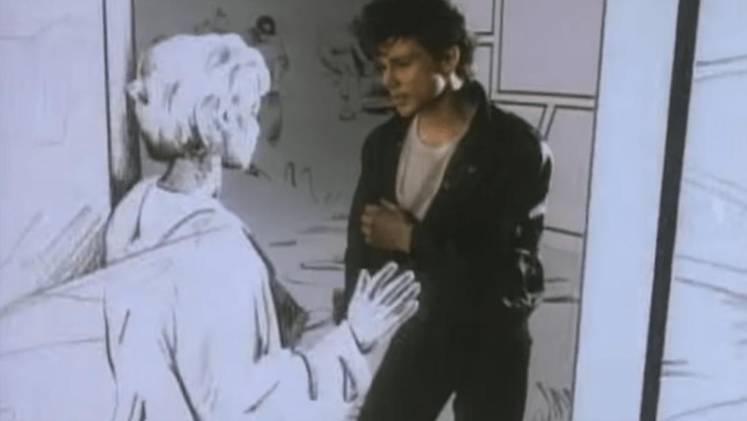 Escena de Take On Me, el one-hit wonder de A-ha
