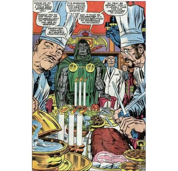 Una de las imágenes de la lujosa cena con Doom parece haber inspirado una de las escenas de Cloud City en The Empire Strikes Back.