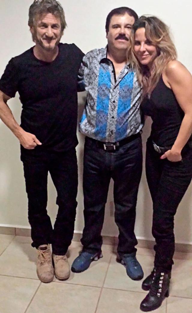 """Encuentro de Sean Penn, Kate del Castillo con el """"Chapo"""" Guzmán."""