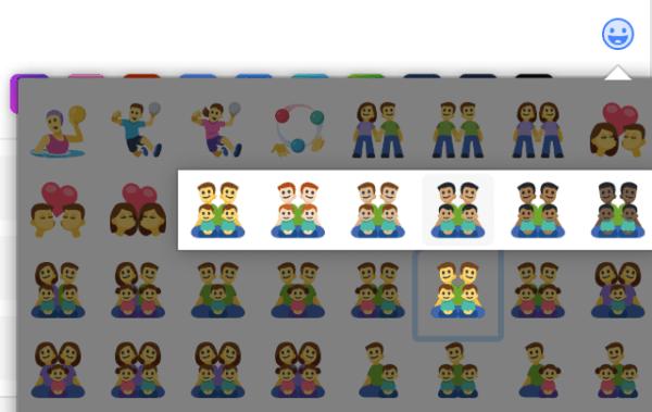 Facebook añade 125 nuevos emojis dedicados a la diversidad de las familias