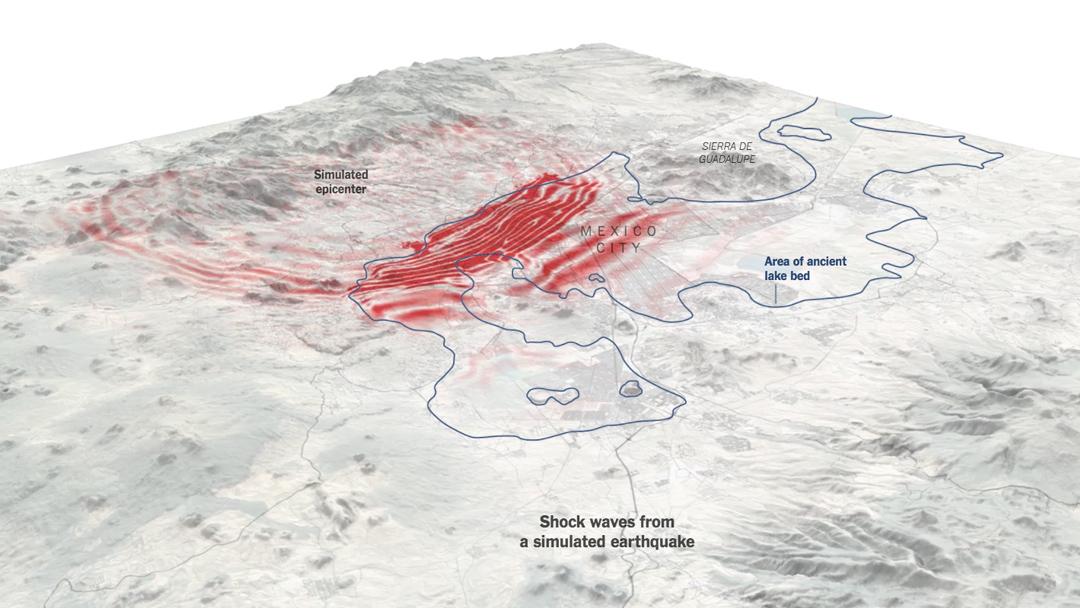 Este mapa muestra cómo se propagó el sismo en la CDMX