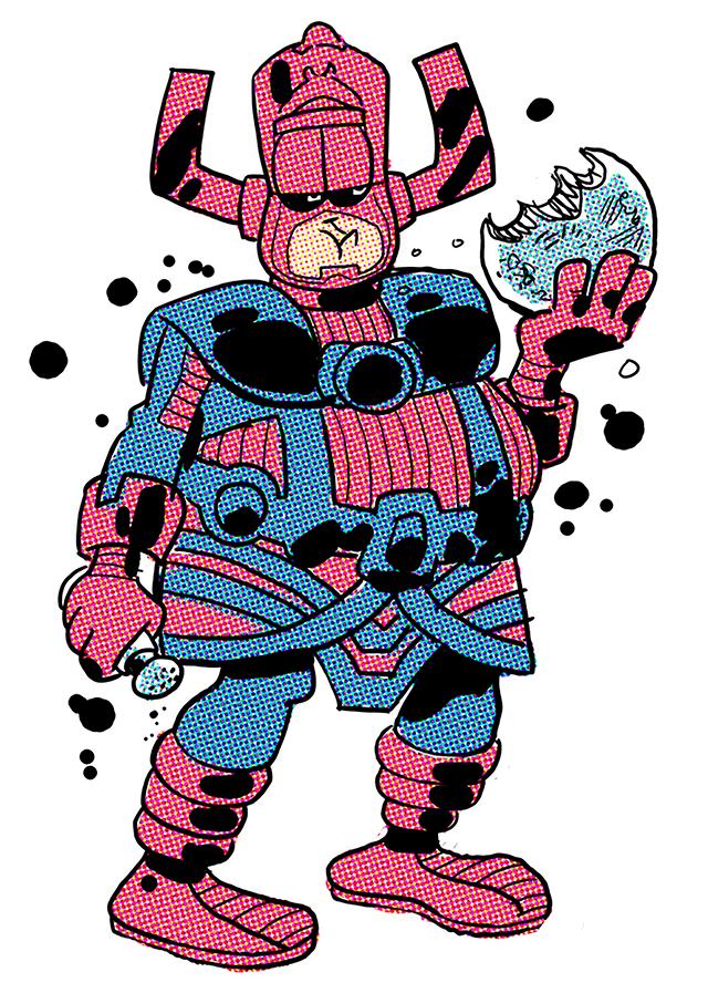 la version de Galactus realizada por Jim Davis