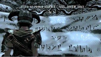 Runas en Dovahzul en Skyrim