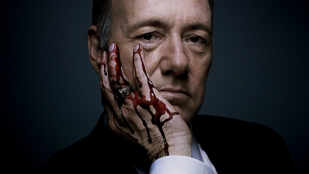 Kevin Spacey como Frank Underwood de House of Cards