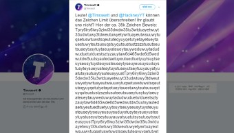 Hackers logran publicar un tuit con 35 mil caracteres