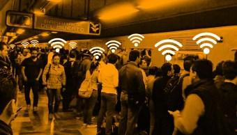 Metro de la Ciudad de México con wifi