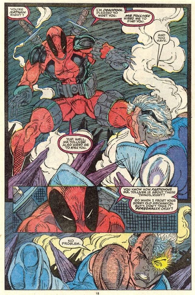 Así fue el primer encuentro entre Cable y Deadpool.