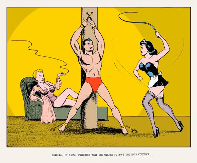 Un dibujo erótico de Joe Shuster