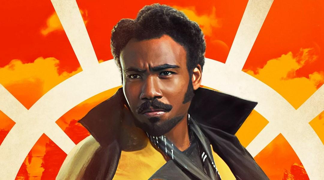 Donald Glover como Lando Calrissian en la película de Solo