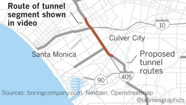 Elon Musk presenta prototipo de túnel subterráneo para autos