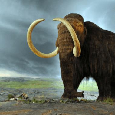 Un ancestral mamut en el Royal British Columbia Museum.