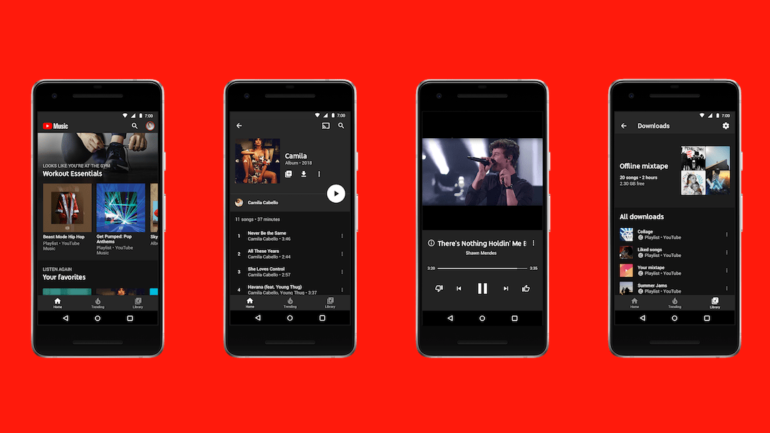 Captura de pantalla de YouTube Music