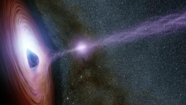 Descubren agujero negro devorando una estrella