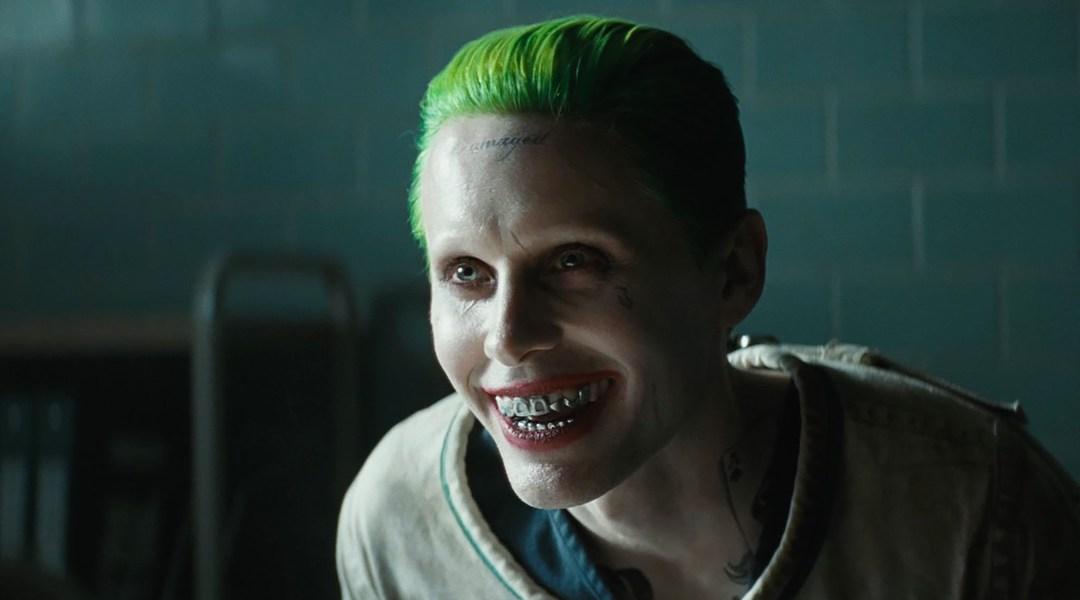 Jared Leto caracterizado como el Joker de Suicide Squad