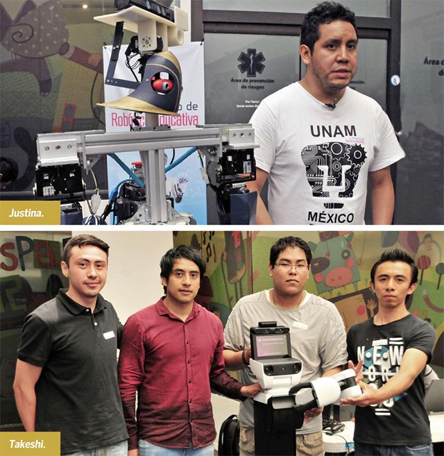 Justina, los robots de la UNAM