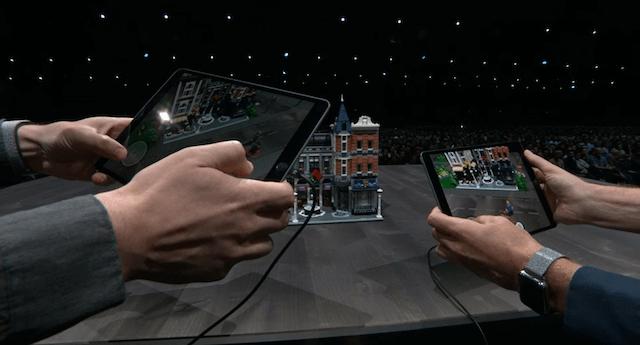 una imagen de lego ar, la nueva app de iOs 12