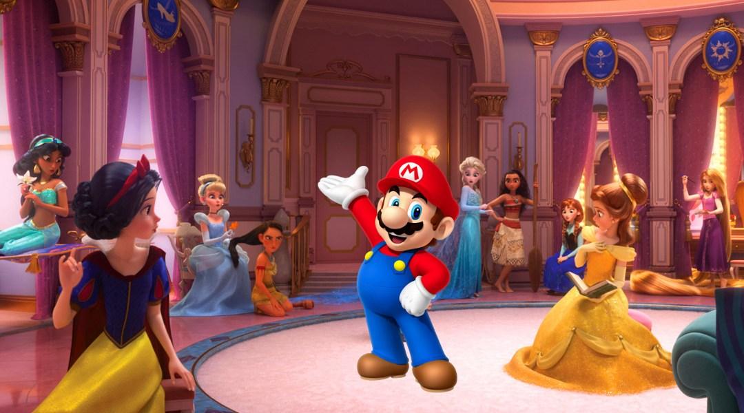 Mario en Wreck-it Ralph 2 con las princesas Disney