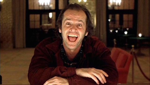 Jack Nicholson en la película el Resplandor