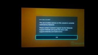 Una foto de una Nintendo Switch hackeada