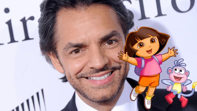 Eugenio Derbez con Dora y Botas
