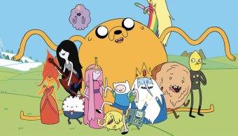 Los personajes de la animación Adventure Time