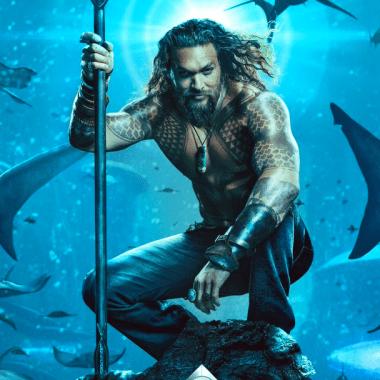 Jason Momoa como Aquaman en poster oficial