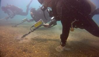 Investigadores de la Subdirección de Arqueología Subacuática del SAS-INAH.