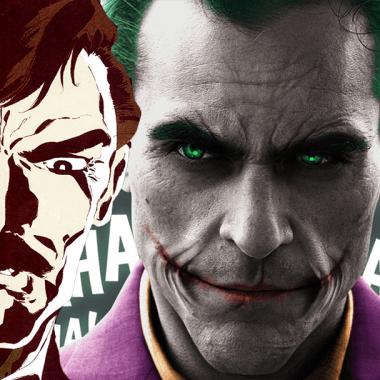 Thomas Wayne con el Joker, el payasito de la tele