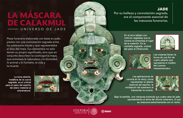 mascara de calakmul Infografia
