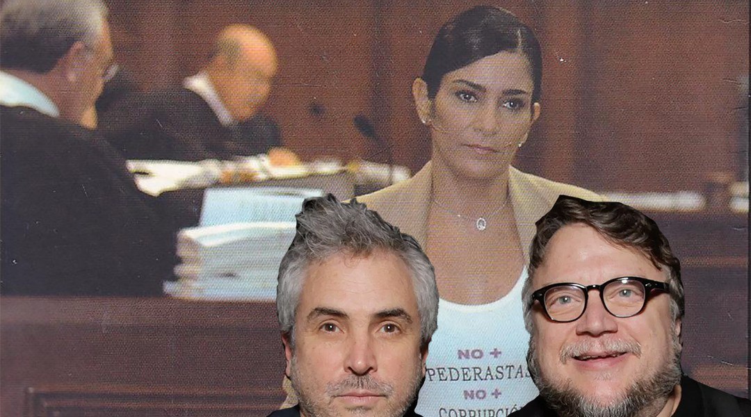 Lydia Cacho, Guillermo del Toro y Alfonso Cuarón