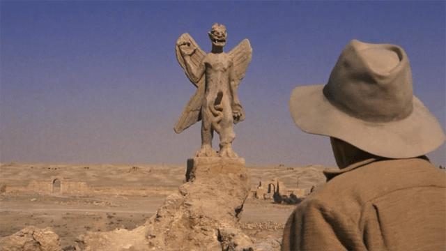 Una estatua de Pazuzu, el demonio