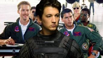 Una escena de Top Gun con Miles Teller al frente