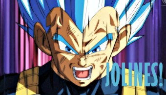 Vegeta, personaje de Dragon Ball, diciendo jolines