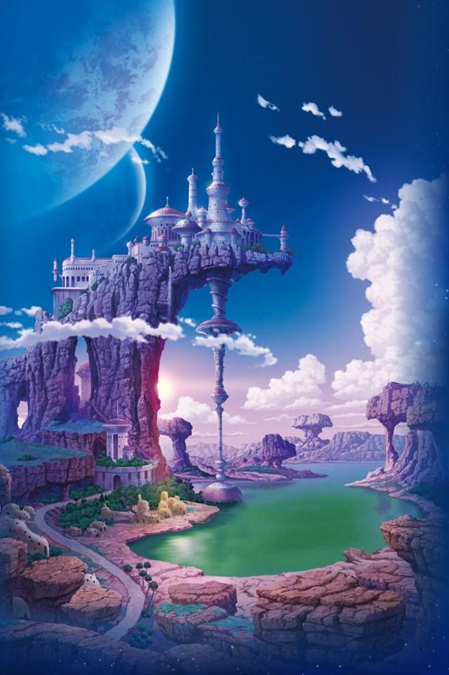 Palacio de Paragus en el Planeta Vegeta, tal cual se verá en Dragon Ball Super Broly