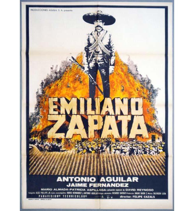 """Póster oficial de """"Emiliano Zapata"""" 1970"""