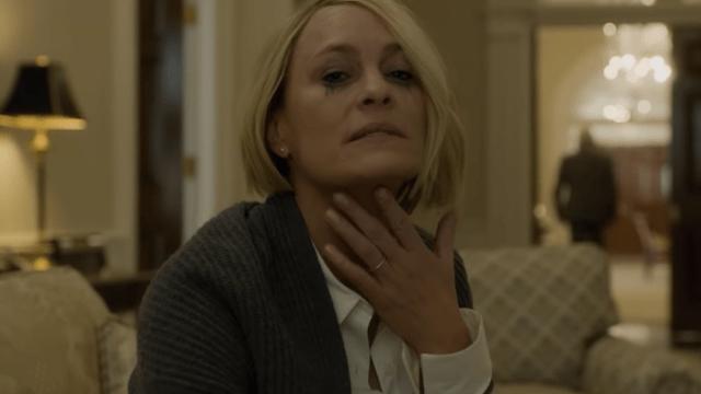 Claire Underwood interpretada por Robin Wright en house of Cards