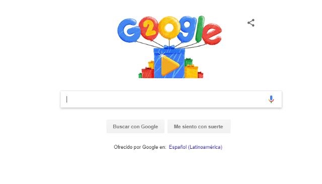 Para su 20 aniversario, Google volvió a colocar este botón debajo de la barra de búsqueda. (Google)