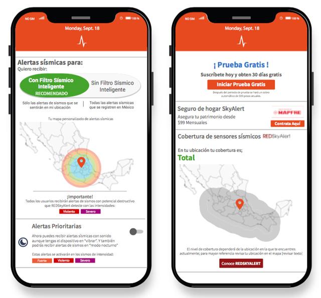 SkyAlert aplicacion alerta sismos